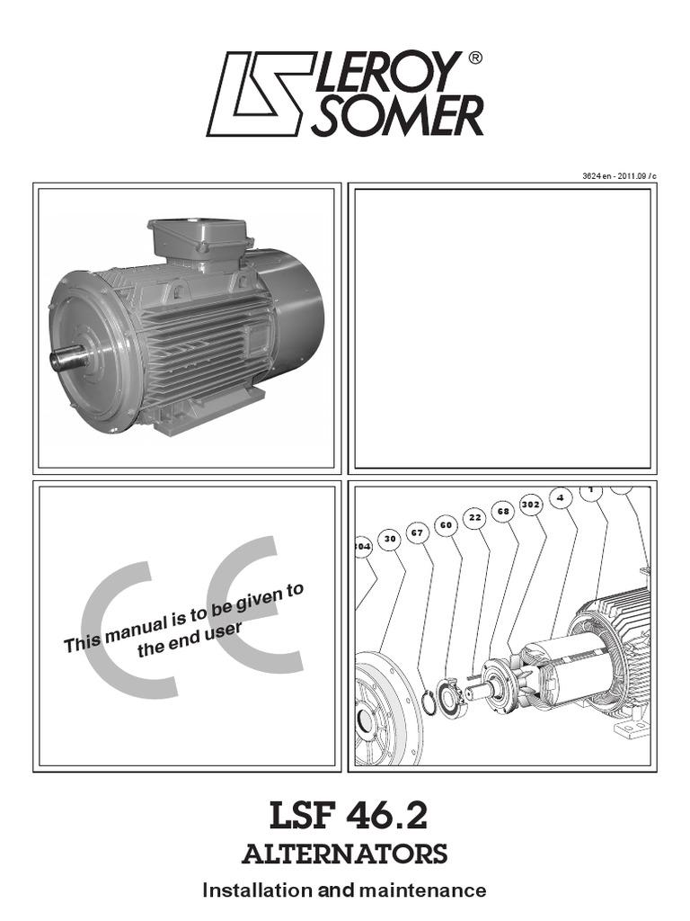 Installation and Maintenance LSF46 2 Alternator | Bearing