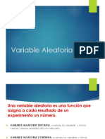 Variable Aleatoria Distribuciones