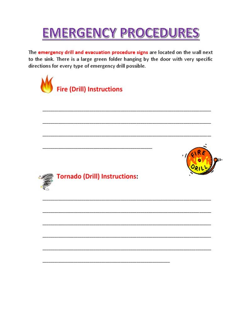 emergency drills procedures