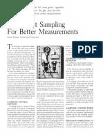 Dew Point Sampling System Improved Measurement