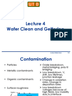 Lecture 4 - Wafer Clean