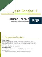 Rekayasa Pondasi 1 (Unmuh Sukabumi)