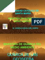 Química General Del Medio Ambiente Geosfera