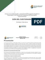Guía Diagnóstico PbR-SED 2018 Entidades Federativas