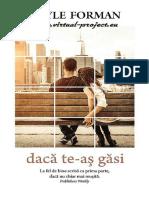 Gayle Forman - Daca Te-As Gasi.pdf