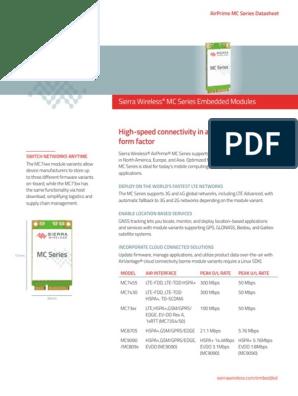 Sierra_Wireless-MC7430-datasheet pdf | Lte (Telecommunication) | 3 G