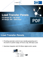 FG Wilson Load Transfer Panel Range