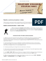 Radio Communication in the Military