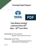 Ayush Sinha Training Report