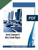 Server Cadangan Dan Menu Transfer Respon