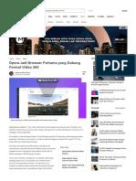 Opera Jadi Browser Pertama Yang Dukung Format Video 360 - Tekno Liputan6.Com