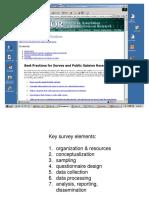 309 Survey Research 101 Best Practices