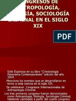 Congresos de Antropología, Biología, Sociología Criminal