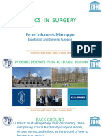 1. ETHICS in SURGERY Peter Johanes Manopo