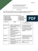 Form 3. Undergraduate Research Progress Report Form (MARCH)