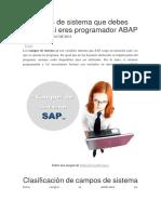 7 Campos de Sistema Que Debes Conocer Si Eres Programador ABAP