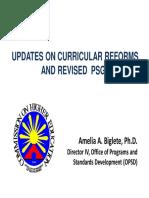 Updates on Curriculum