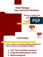 Chmait Fetal Therapy Current Status and Future Directions