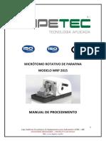 Manual de Procedimento MRP2015