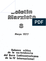 Boletín Marxista 8 (mayo 1977) Balance crítico de la ex-tendencia del Buró Latinoamericano de la IV Internacional (Posadista)