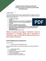 Resumen de Requisitos Para El Registro de Proyectos (1)