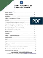 Developpement Personnel Et Relation Interpersonnelle Pigier Master II 2012 2013 Etudiant