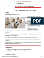 How to Convert a Percent to an Odds Ratio _ Sciencing