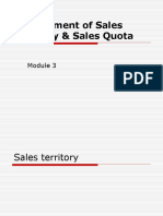 Sales Territory and Quota