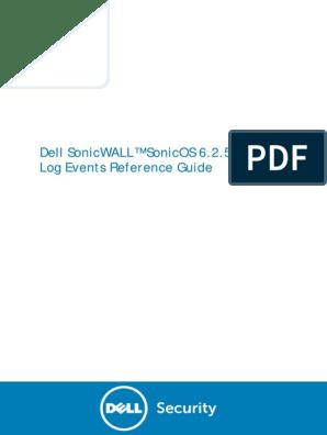 SonicOS 6 2 5 LogEvents ReferenceGuide | Radius | Virtual