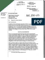 CTIA to FEC Request for Advisory Opinion 09-10-2010