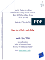 MTufan Interaction of Electrons With Matter