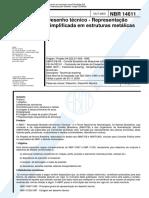 NBR 14611 - Desenho Técnico - Representação Simplificada Em Estruturas Metalicas