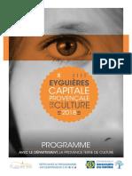 Programme Eyguières Capitale