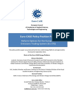 Euro-CASE Policy Position Paper. Reform Options for the European Emissions Trading System (EU ETS).pdf