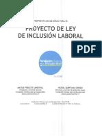Proyecto Ley de Inclusión Laboral Personas Con Discapacidad