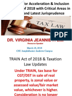 TRAIN Act of 2018 & Taxation Law Updates