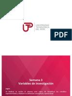 PPT Sesión 3.1 - Variables e Indicadores