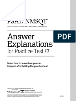 Psat Nmsqt Practice Test 2 Answer Explanations