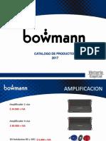 Catalogo Bowmann 2017