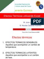 Efecto Termicos Con Excel