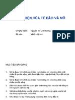 Chuong 3. Dien Sinh Hoc - Bai 3- Do Dan Dien Cua Te Bao Va Mo
