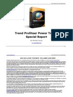 Trend Profiteer Power Trends Special Report