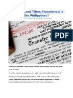 How Are Land Titles Transferred in the Philippines