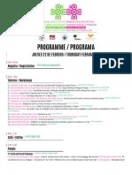 Programa Congreso Internacional de Pedagogía Social, Puebla.