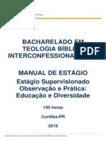Manual Estagio Obs e Pratica Educacao e Diversidade Teologia 2018