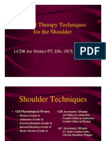 Manual Therapy Techniques for the Shoulder