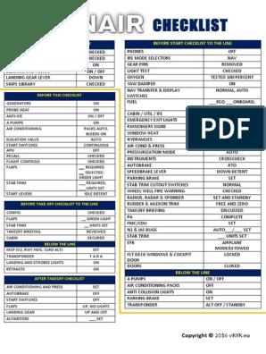 Ryanair Checklist | Aircraft Flight Control System | Landing