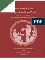 Pensar, desear y actuar en el pensamiento grecolatino. AAFA. Actas I Simposio Nacional de Filosofía Antigua.pdf