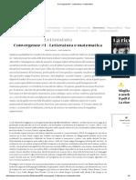 Ceserani - Convergenze #1 - Letteratura e Matematica