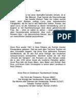 Anne Rice - Hexen-Chronik 1 - Hexenstunde